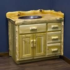 Bathroom Vanities Made In America by Cedar Lake Logger Vanity Is Made With Real Solid Wood Rustic