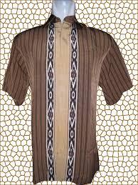 Baju Batik Batik baju batik batik lengan pendek motif garis lurus mirror banjar