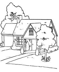 coloring pages houses lovely houses coloring page color luna