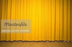Yellow Curtain Stage With Yellow Curtains Stock Photo Masterfile Rights