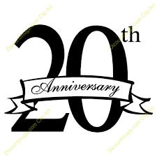 20 yr anniversary 20th anniversary clipart wedding clipart collection better