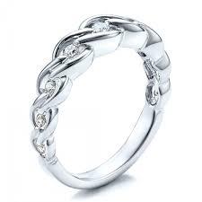 matching wedding rings tension set diamond band with matching engagement ring vanna k