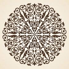 brown kaleidoscopic ornament royalty free vector clip