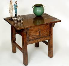 spanish chestnut side table colonial arts