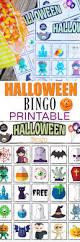 Printable Halloween Game by Halloween Bingo Printable Great For Halloween Class Parties