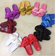 pink slides rihanna fenty leadcat fur slides pink black white slide sandal
