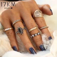 gold knuckle rings images 17km 7pcs set vintage punk ring set hollow antique gold color jpg