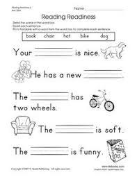 reading readiness 2 pre k 1st grade worksheet lesson planet