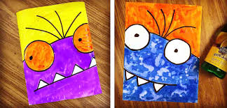 superb art and crafts projects coloring page 7 monster kids