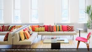 Herman Miller Sofas Geiger Tuxedo Sofa And Ward Bennett I Beam Coffee Table Create A