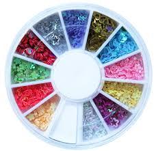 amazon com glitter jewel stars and hearts hoops nail art tip