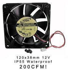 high cfm case fan amazon com adda 120mm x 38mm new case fan 12v dc 200cfm waterproof