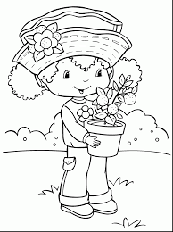 awesome strawberry shortcake coloring pages for girls with
