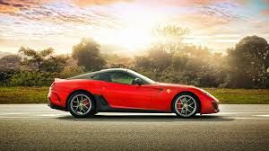 red ferrari photo collection sunset red ferrari 599