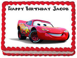 lightning mcqueen cake cars lightning mcqueen image edible cake topper decoration ebay