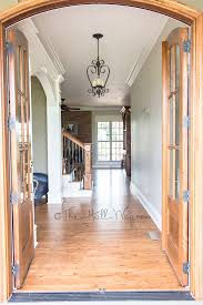 behr silky white a bm revere pewter alternative the hall way