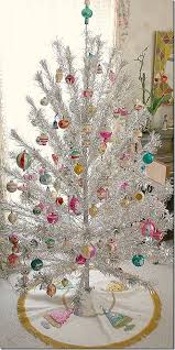 silver tinsel christmas tree 83 best christmas tinsel trees images on vintage