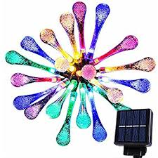 Outdoor Fairy Lights Australia by Goodia Multi Color 4 8m 20 Led Icicle Lights Solar Powered