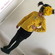 elastic hairband yellow headband big flower hairband baby accessories