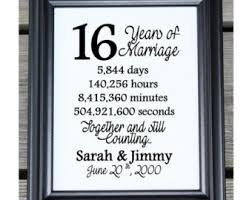16th wedding anniversary gifts 16 years together etsy