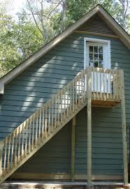 garage wood deck steps design exterior stair landing deck wood