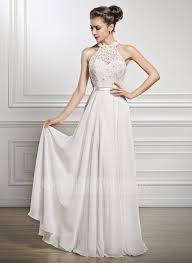 scoop neck lace wedding dress a line princess scoop neck floor length chiffon lace wedding dress