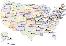 map of usa states and capitals and major cities map usa states and capitals major tourist attractions maps