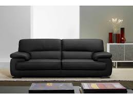 conforama canapé en cuir canapé fixe 3 places balsamo coloris noir prix promo canapé cuir