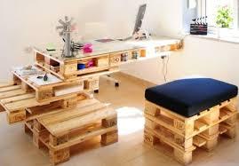 fabriquer un bureau informatique faire un bureau en bois de palette des modèles