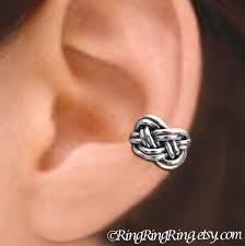 clip on earrings for men celtic knot ear cuffs sterling silver earrings knot