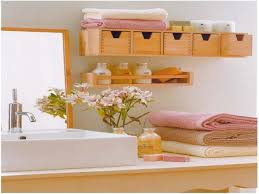 Floating Shelves For Bathroom by Lovable Storage Ideas For Small Bathroom With Small Wooden Wall