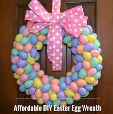 how to make an easter egg wreath affordable diy easter egg wreath home supplies and for less