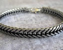 silver bracelet jewelry images Mens silver bracelet etsy jpg