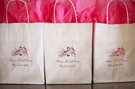bridal party gift bags showers photos pink bridal shower gift bags inside