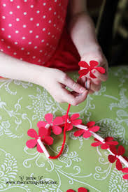 Making Of Flowers With Paper - homemade hawaiian leis kid craft the crafting