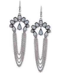 fashion earrings guess silver tone multi chain drop earrings jewelry
