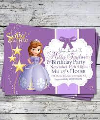 sofia the birthday party sofia party invitations best 25 princess sofia invitations ideas