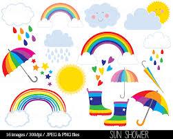 Clip Umbrella Umbrella Clipart Rainbow Umbrella Pencil And In Color Umbrella