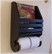 Magazine Rack Bathroom by Primitive Magazine Rack Toilet Paper Holder Farmhouse Storage