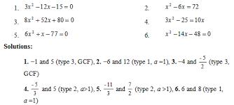 solving quadratic equations by factoring sas