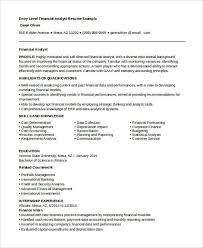 objective for resume it entry level best finance resume templates