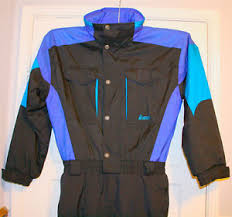 insulated jumpsuit vintage nordica ski snowboard one suit size l insulated