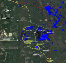 Ocala Fl Map Ocala National Forest Farles Prairie