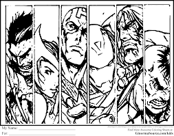 avengers coloring pages to print 8113