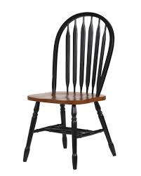 Black And Cherry Wood Dining Chairs Sunset Trading 38 U2033 Arrowback Dining Chair In Antique Black And