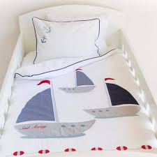 Baby Duvet Sail Away Egyptian Cotton Baby Duvet Cover Set 80x120cm U2013