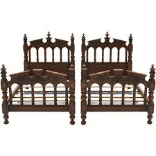 pair of spanish revival twin beds at 1stdibs