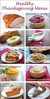 thanksgiving menu healthy recipes