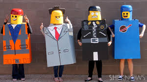 everything is awesome about these diy costumes from the lego movie