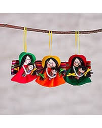 amazing deal on handcrafted ornaments andean mothers set of 3